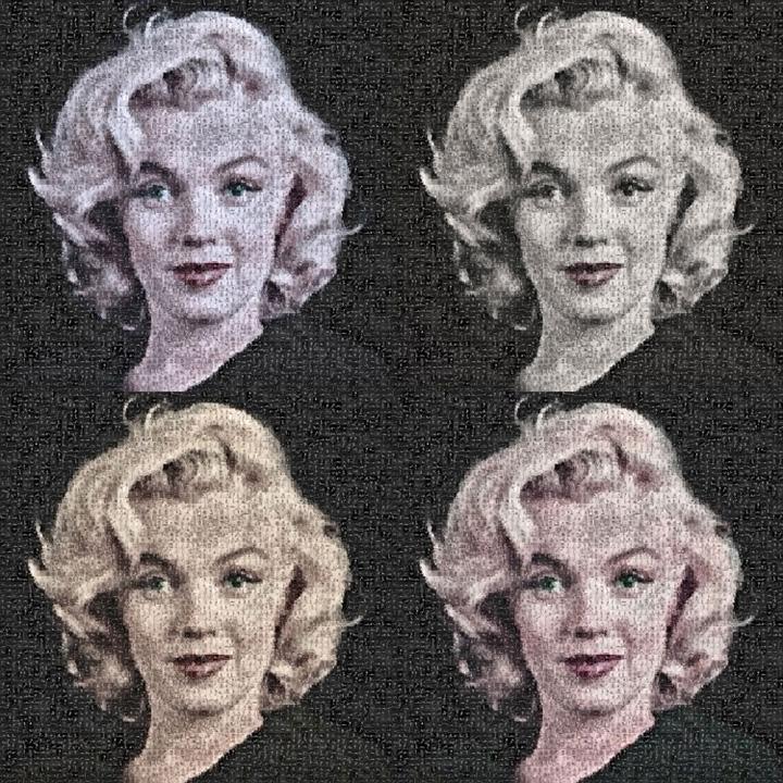Photomosaic: Tahi Lalat Madonna dari Gambar Kloset, Bibir Putri Diana dari Bunga Mawar